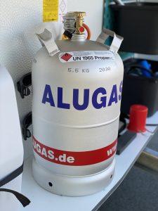 Gasflasche aus Aluminium