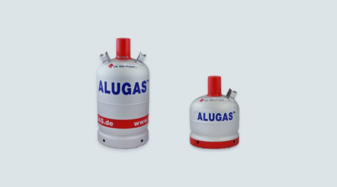 Alugas Gasflasche für den Wohnwagen