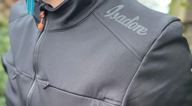 Winterjacke von Isadore: Merino Membrane Softshell Jacke mit Beleuchtung
