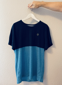 Shirt in blau mit Merino und Tencel von Triple2