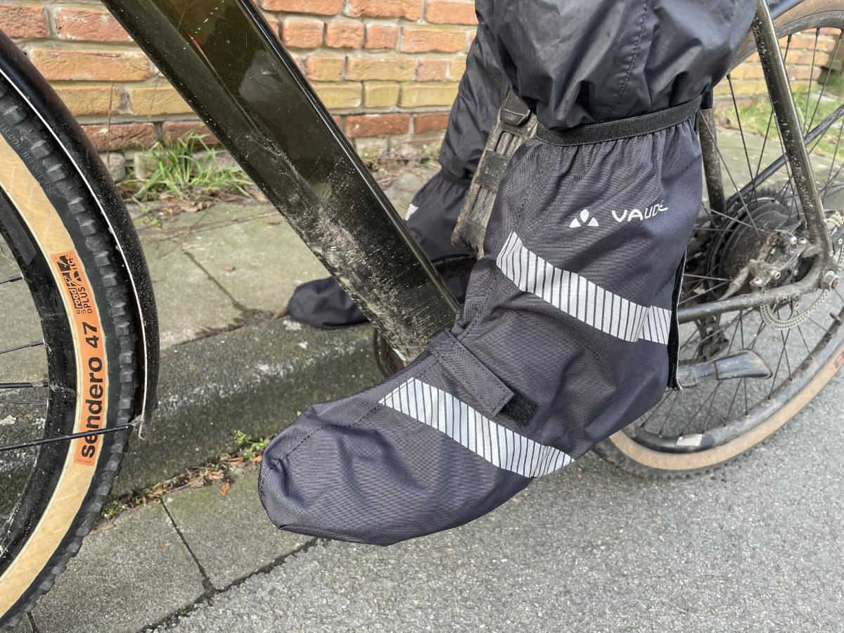 Spritzschutz für Schuhe auf dem Fahrrad
